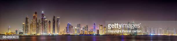 Dubai JBR color panorama