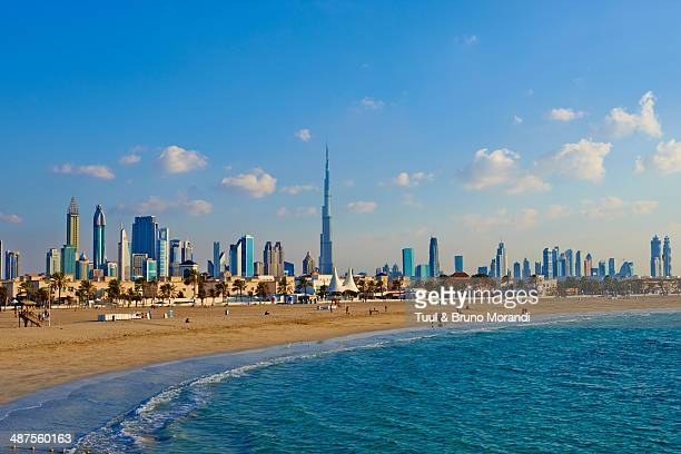 Dubai, Jumeirah beach and cityscape