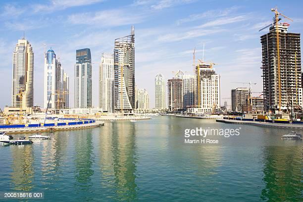 Dubai, Jumeirah, construction in the Dubai Marina area