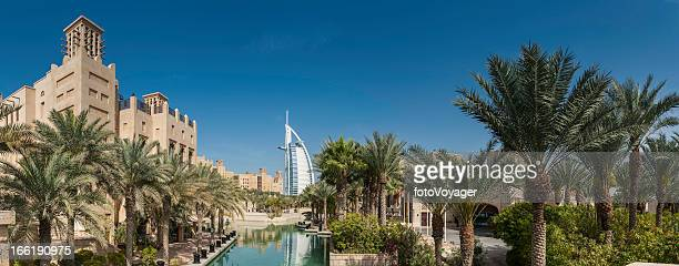 Dubai luxury desert resort Burj al Arab panorama UAE