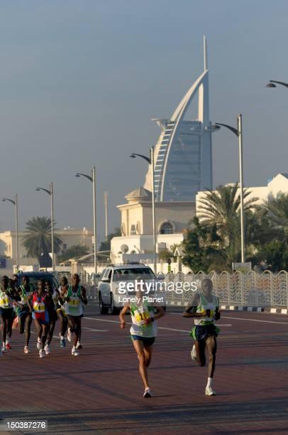 2007 Dubai Marathon runners, Jumeirah Beach.