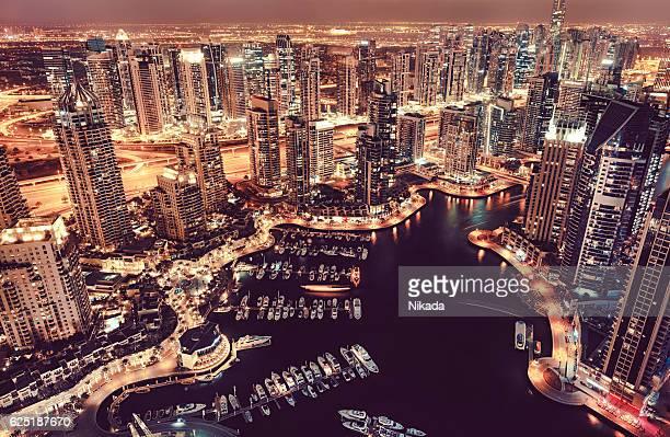 Dubai Marina, aerial view