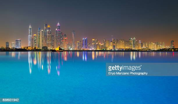 Dubai Marina and Jumeirah Beach Residence Skyline
