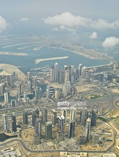 Dubai marina and Palm Jumeirah