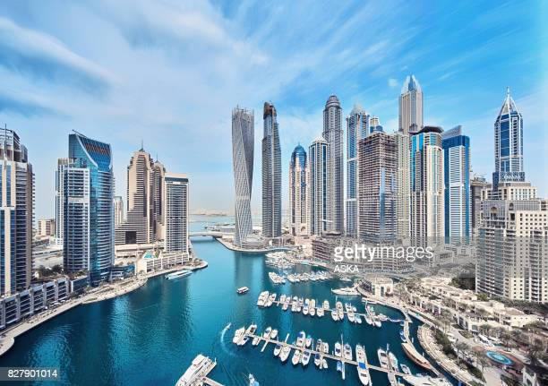Dubai Marina City Skyline in the United Arab Emirates