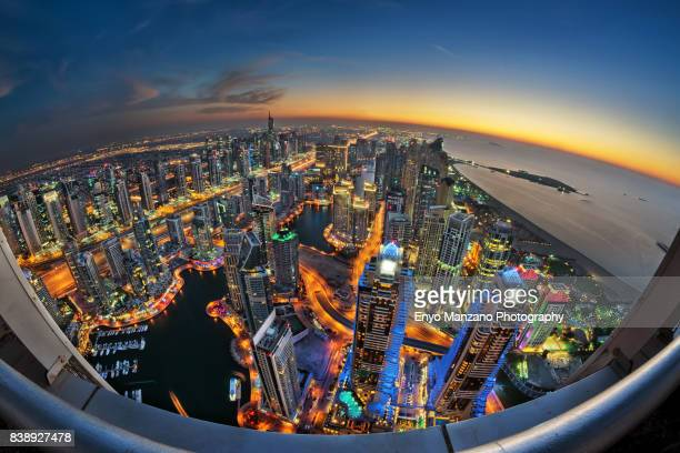 dubai marina cityscape - canal stock pictures, royalty-free photos & images