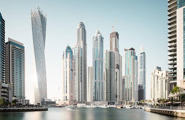 Dubai marina futuristic buildings   Photos.com