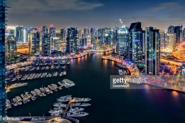 Dubai Marina Panorama at Dawn, United Arab Emirates