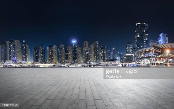 Dubai marina scenery at night