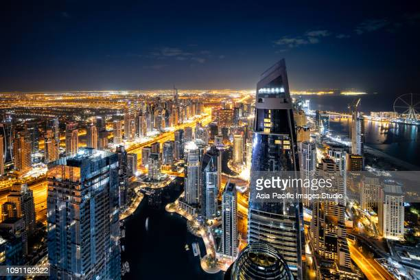 Dubai Marina Skyline at Night