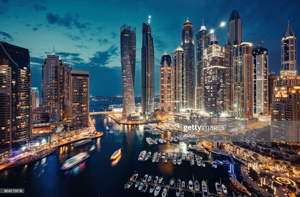 Dubai Marina skyline : Stock Photo