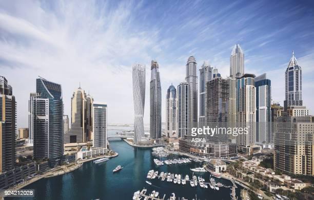 dubai marina skyline - dubai stock pictures, royalty-free photos & images