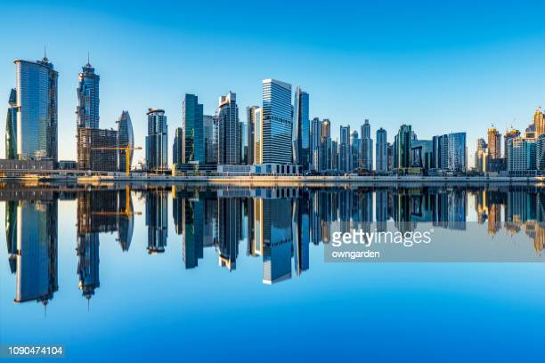 dubai marina skyline,uae - gulf countries stock pictures, royalty-free photos & images