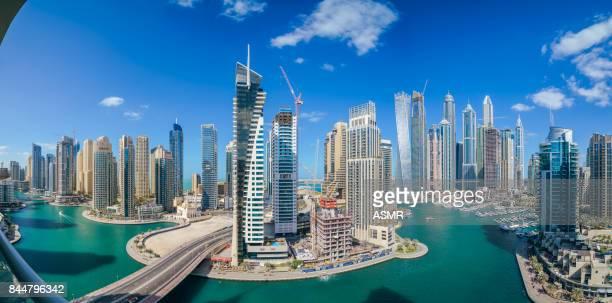 dubai marina urban skyline - dubai stock pictures, royalty-free photos & images