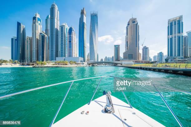 dubai marina horizon urbain - dubai photos et images de collection