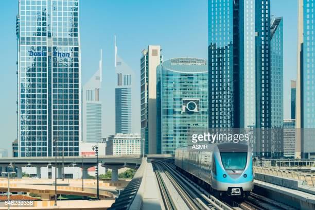 dubai metro - autonomous technology stock pictures, royalty-free photos & images