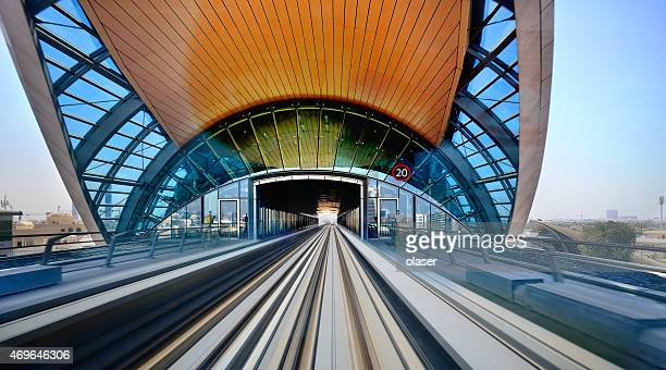 dubai metro station, motion blur - underground station stock pictures, royalty-free photos & images