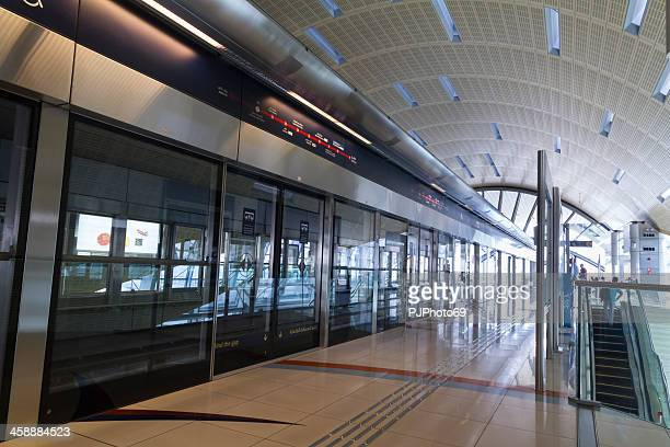 dubai metro station - pjphoto69 stock pictures, royalty-free photos & images