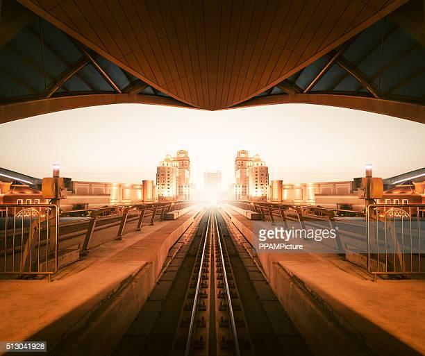Dubai metro track
