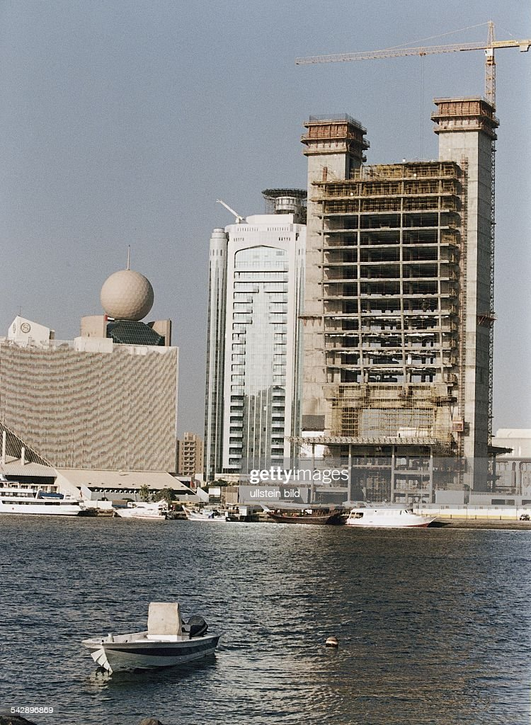 Dubai Noch Im Bau Befindet Sich Die U0027National Bank Of Dubaiu0027 Der Neubau Der