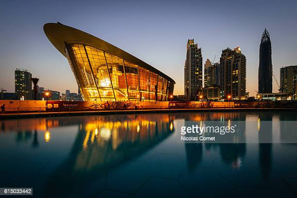 Dubai Opera at dusk