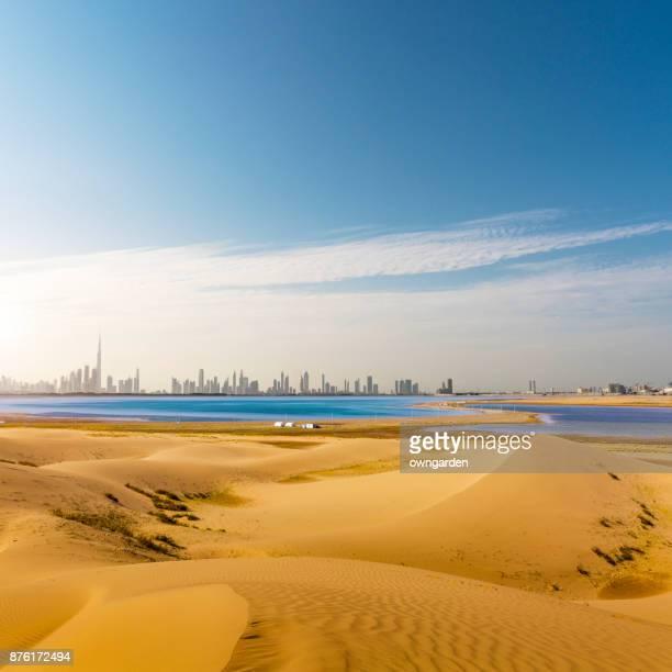 dubai scenery - persian gulf stock-fotos und bilder