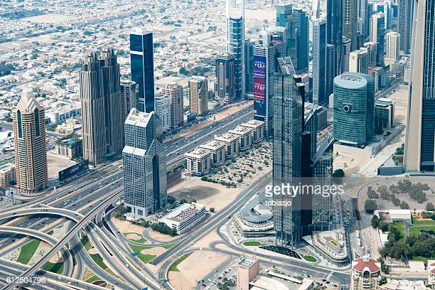 Dubai seen from helicopter