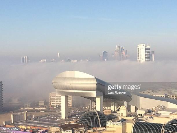 Dubai Ski / Mall if the Emirates in clouds