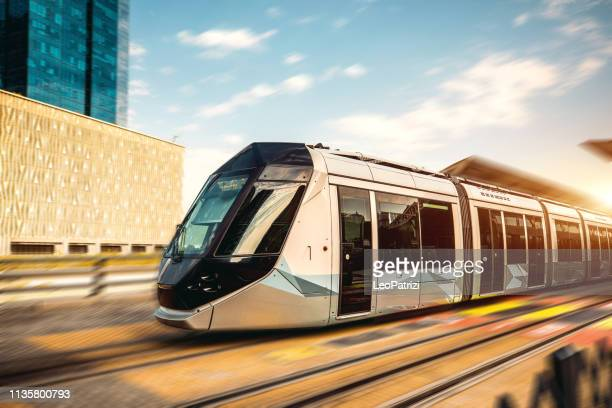dubai skyline and architecture modern and fast growth of a business city - public transport stock pictures, royalty-free photos & images