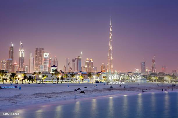 Dubai Skyline and Jumeirah Open Beach