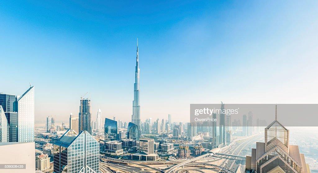 Dubai skyline down town district cityscape : Stock Photo