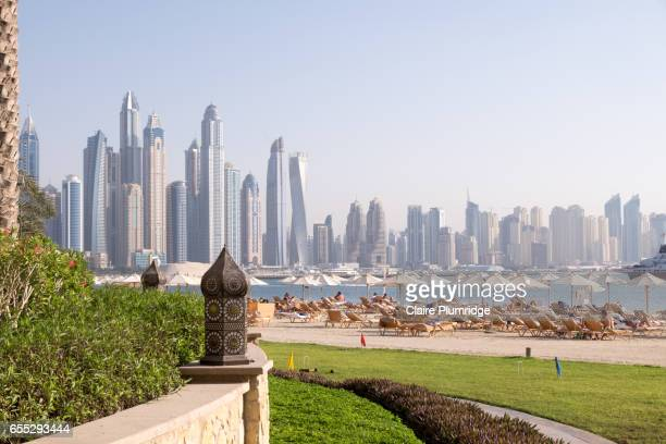 Dubai skyline from The Palm