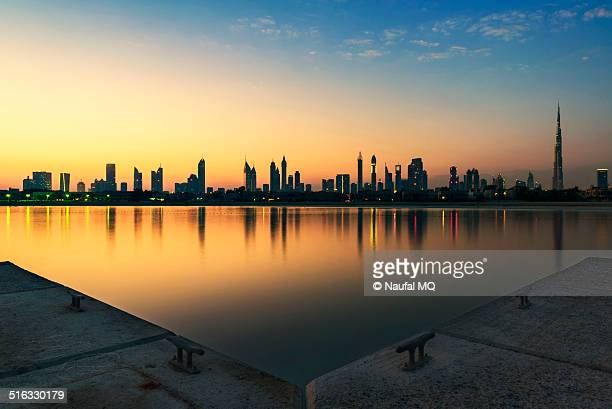 Dubai skyline in the morning