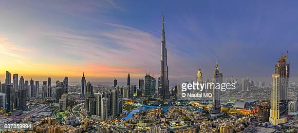 Dubai skyline panorama