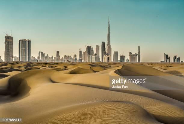 dubai skyline - united arab emirates stock pictures, royalty-free photos & images