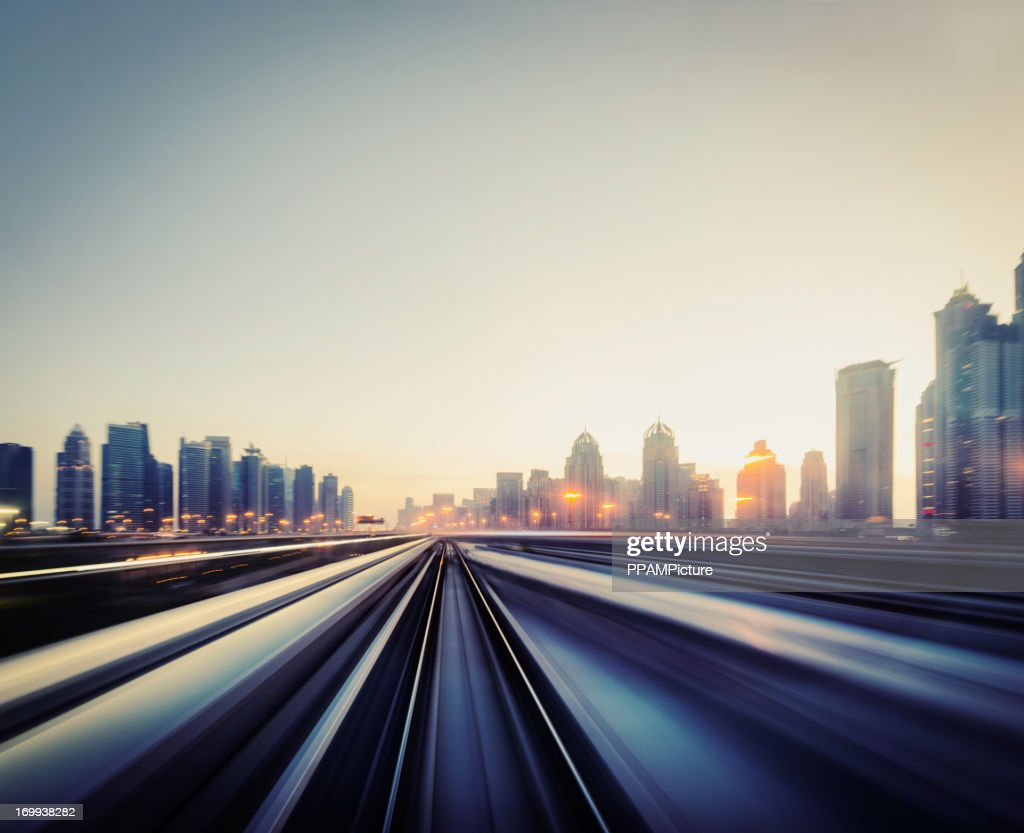 Dubai Speed motion : Stock Photo
