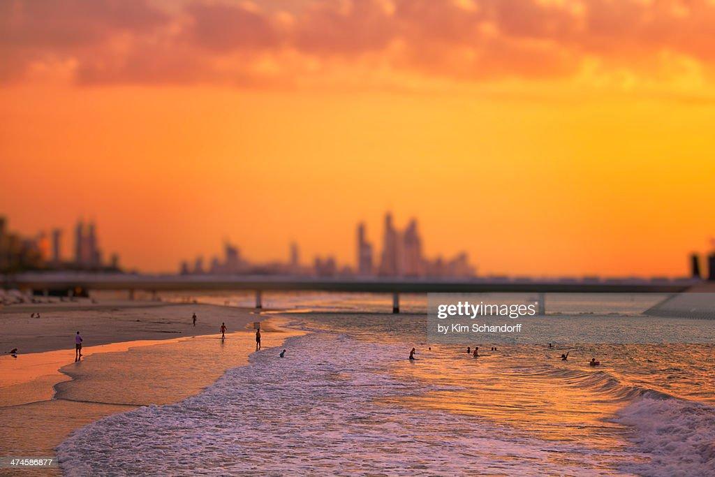Dubai sunset : Stock Photo