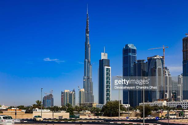Dubai, UAE: Construction Skyline including Burj Khalifa