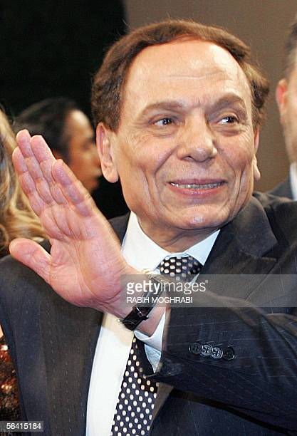 Egypt's top comedian Adel Imam waves upon his arrival at the opening ceremony of Dubai's International Film Festival 11 December 2005 The annual...