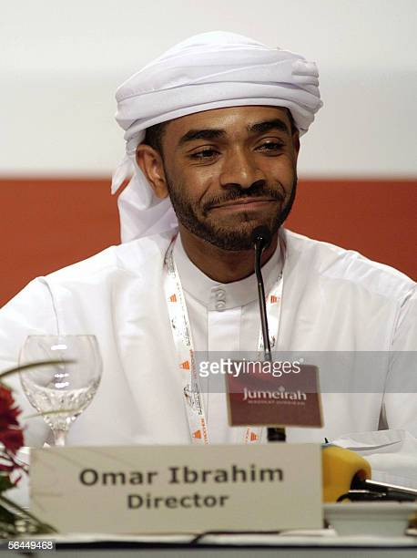TO GO WITH AFP STORY EntertainmentUAEfilm Emirati director Omar Ibrahim attends a press conference in Dubai 17 December 2005 Moviemaking in the...