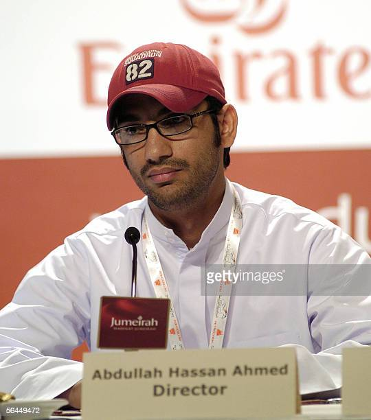 TO GO WITH AFP STORY EntertainmentUAEfilm Emirati director Abdullah Hassan Ahmed attends a press conference in Dubai 17 December 2005 Moviemaking in...
