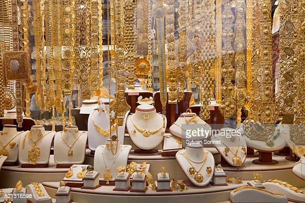 dubai's gold souk, deira - jewelry stock pictures, royalty-free photos & images