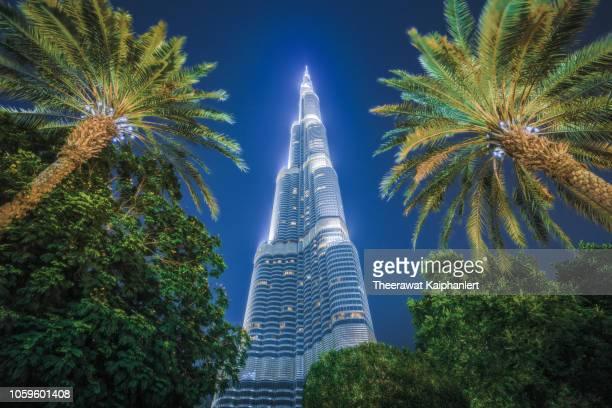 dubai's landmark destination, burj khalifa - burj khalifa stock photos and pictures