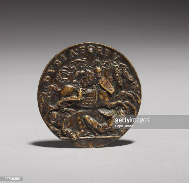 Dubia Fortuna , c. 1505. Moderno , and Workshop. Bronze; overall: 5.3 cm .