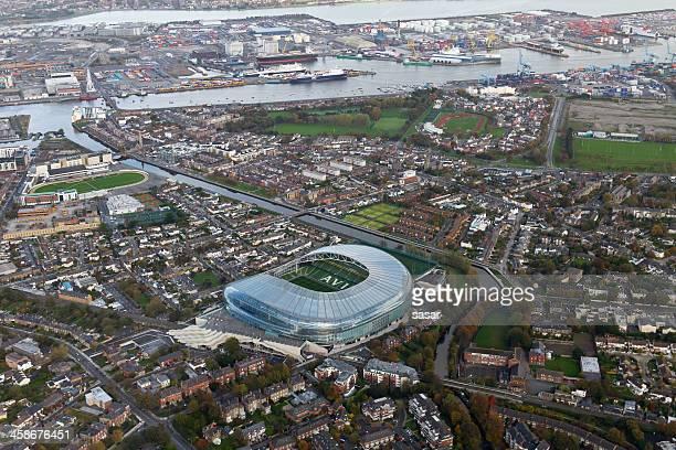 Dublin aerial shot with Aviva stadium