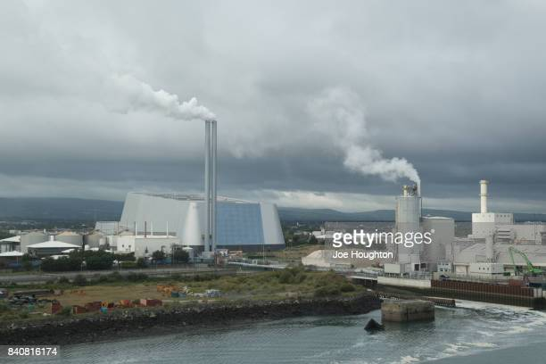 dublin bay - incinerator stock photos and pictures