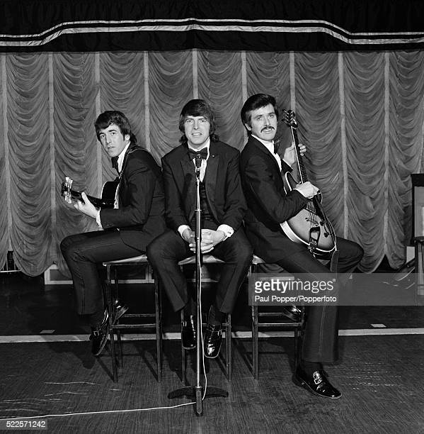 Dublin born easy listening vocal trio The Bachelors, from left to right, Declan Cluskey, Conleth Cluskey and John Stokes, in Manchester circa 1970.