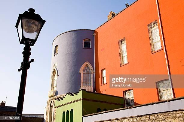 dublin castle and street lamp post against sky - dublin castle dublin stock pictures, royalty-free photos & images