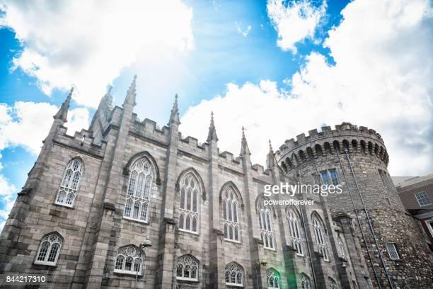 dublin castle in dublin, ireland - dublin castle dublin stock pictures, royalty-free photos & images