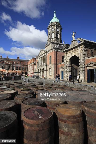 Dublin Castle with whisky casks